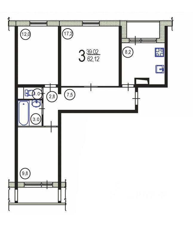 Купить трёхкомнатную квартиру в москве у метро царицыно.