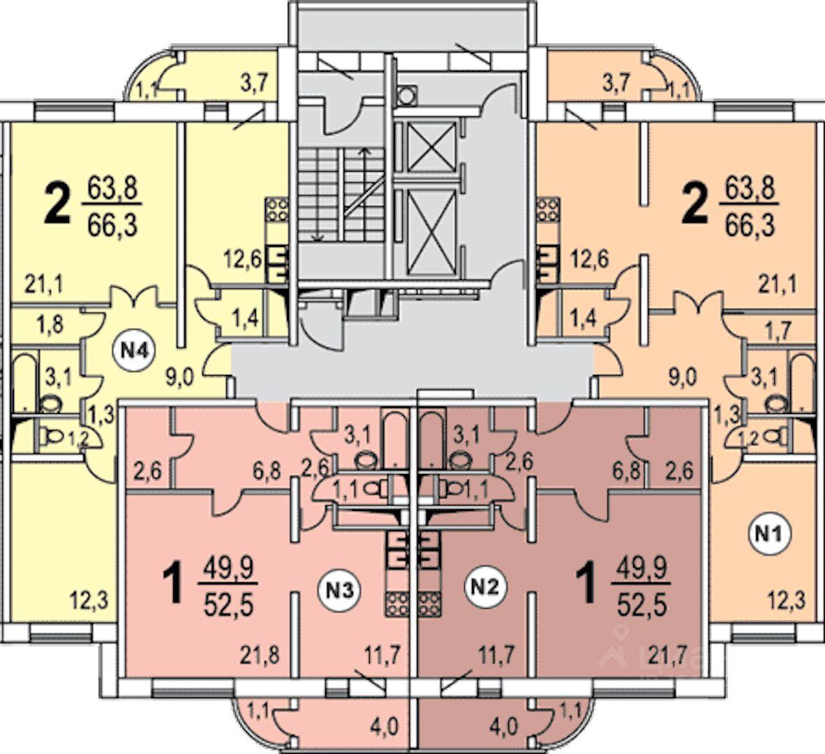 Серия дома п-111м (111-м) russianrealty.